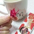 写真: 包み紙とかあるとすぐ鶴つく...