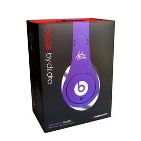 Monster Beats Justin Bieber Headphones Purple 1