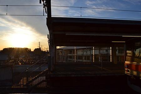 205系×夕日@東松戸駅[12/28]