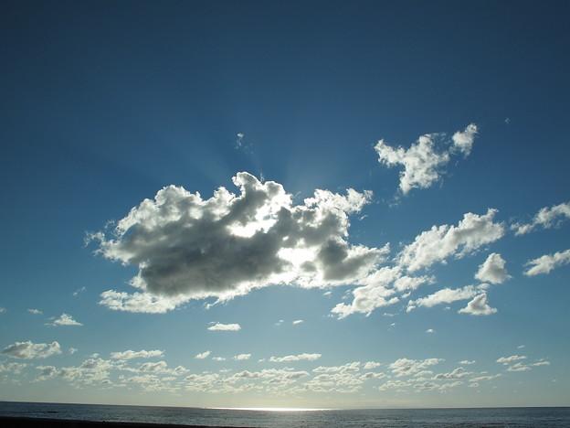 桃崎浜付近の空