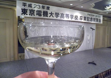 乾杯はスパークリングワイン