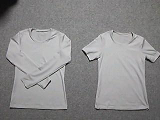 Tシャツ(ベージュグレー)2枚