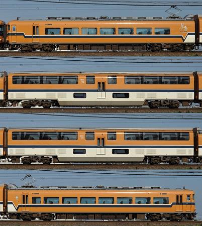 近鉄30000系30213F(V13)海側側面 2011.11.13