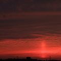 写真: 今日の夕焼け
