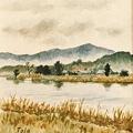 1994 旧北上川の秋