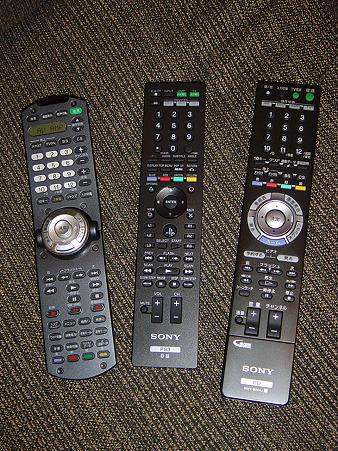 Sony 家電製品リモコン比較