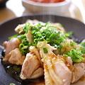 写真: 鶏もも肉のおろしタレがけ