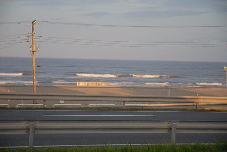20110726_九十九里・いさりび食堂の窓から見える九十九里浜