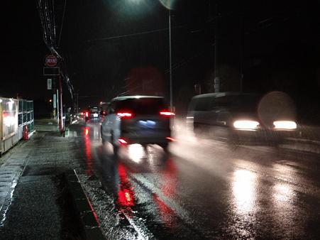 雨の国道155号線