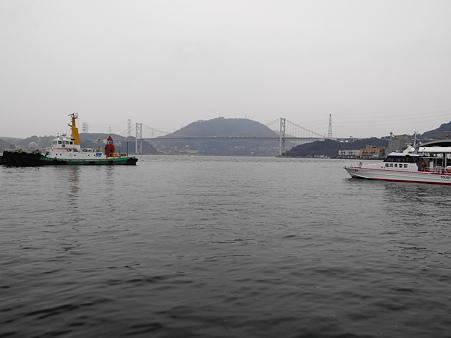 門司港からの関門海峡