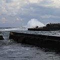 破壊された漁港