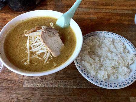 羅阿麺館 味噌カレーラーメン+ライス