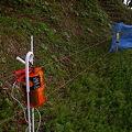 Photos: イノシシよけの電柵