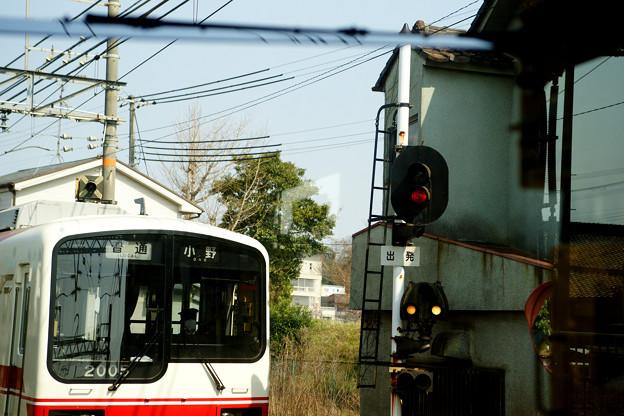 神戸電鉄 志染駅で下り電車待ち