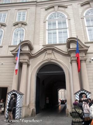 プラハ城入り口