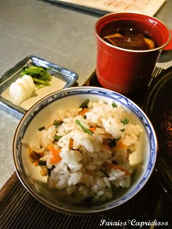 炊き込みご飯と赤出汁
