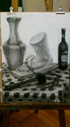 木炭デッサン 1