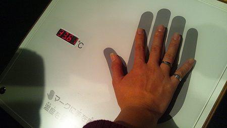 手の平体温計