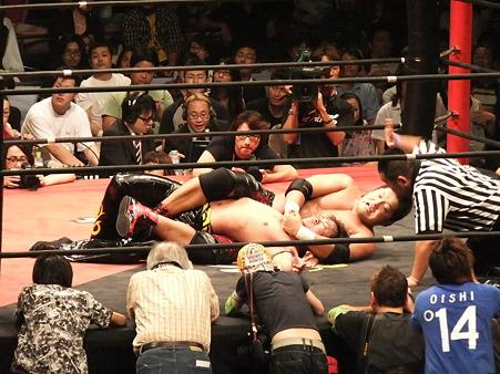 DDT 両国ピーターパン2011 〜二度あることは三度ある〜 KO-D無差別級選手権 石川修司vsKUDO (11)