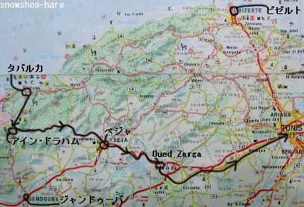 タバルカからチュニスへのルート2