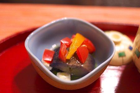 2011.03.09 銀山温泉 旅籠 いとうや 夕食-茄子の煮物