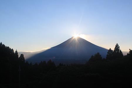 ダイヤモンド富士 終盤