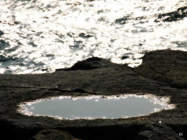海と水溜り