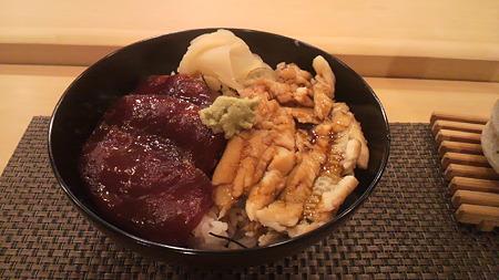 鮪漬け&穴子丼