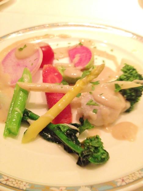 東銀座/地中海料理 銀座ARCO・IRIS/岩手県産野菜のバーニャカウダ風サラダ