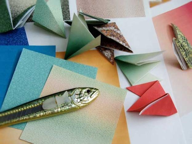 辰 折紙製作中