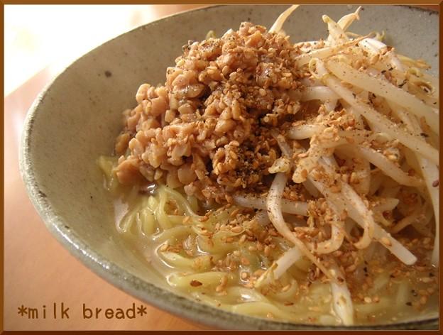 納豆塩ラーメン (3)