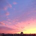 写真: 夕焼け空 ハイキー