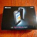写真: optimus bright L-07C 箱