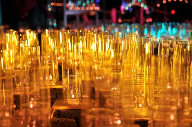 横濱キャンドル・・黄色く輝くグラス。。