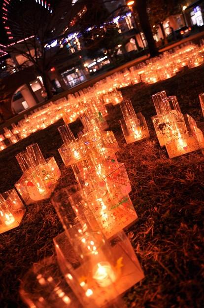 横濱キャンドル・・キャンドルにメッセージを