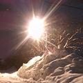 街路灯と雪景色 【2】