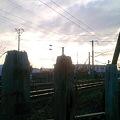 Photos: 線路脇の枕木柵